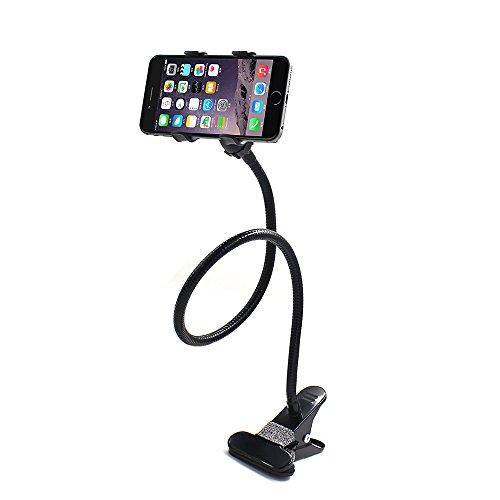 Smarter Schwanenhals Flexible lange Arme Handy Clip Halterung Ständer Unterstützung 360Krokodilledermuster Mount Clip Halter für iPhone Samsung Handy Lazy neben Bett, Auto, Desktop, Stuhl