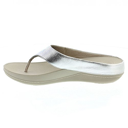 Superlight Ringer Toe Post - Silver Leather Argento