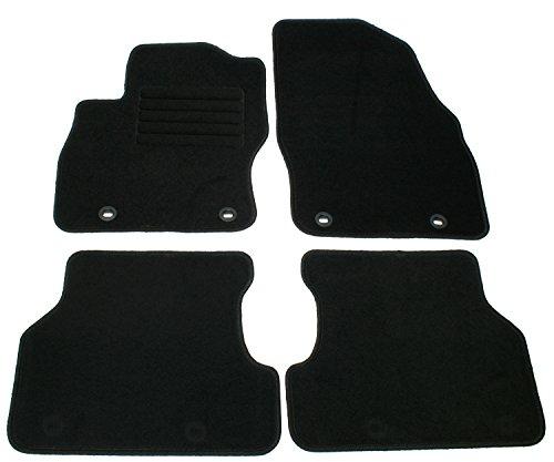 Velours Passform Fußmatten Set, Schwarz für Ford Focus MK2 + Turnier