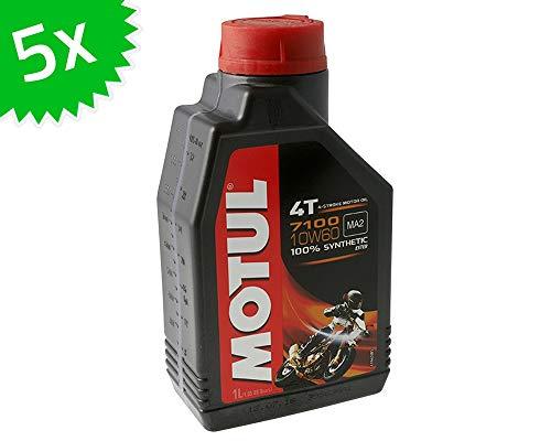 MOTUL 4T 10W60-7100 - Olio Motore Sintetico, 5 l, 4 Tempi, 1