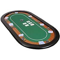 Riverboat Gaming Champion faltbare Pokerauflage mit grünem wasserabweisenden Stoff und Tasche - Pokertisch 180cm