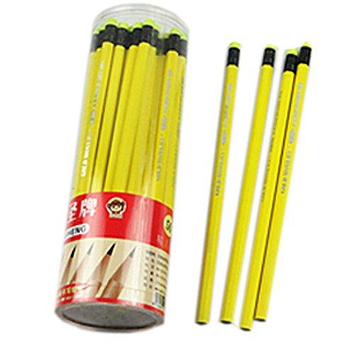 lot-de-2-crayons-hb-avec-des-crayons-gommes-bois-tube-jaune