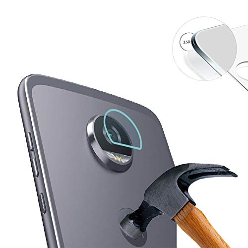 Lusee 2 x Pack Kamera Schutzfolie Linsenschutz für Motorola Moto Z3 Play 6.0 Zoll Echtglas Tempered Glass Bildschirm Schutz Folie