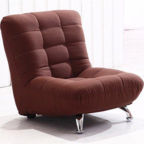 Canapé pour enfants en bois massif tissu solide couleur amovible et lavable Mini loisirs chaise ( Couleur : Marron )