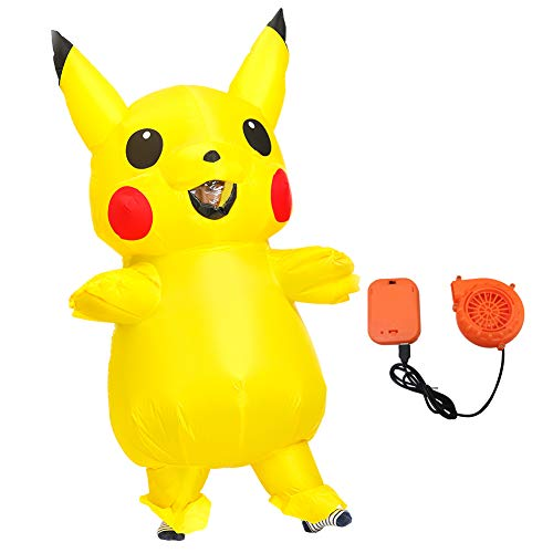 Adult Lustig Kostüm - Halloween Kostüm Aufblasbares Unisex Fasching Karneval Costume Erwachsene Kinder Partei Lustige Kleid Cosplay Outfit (Pikachu,Adult 150-190cm)