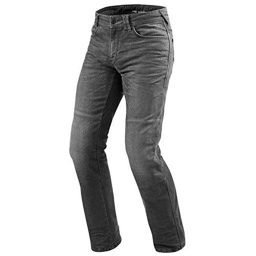 REV'IT! PHILLY 2 LF Herren Motorrad Jeans std/kurz/lang (used dunkel grau, 34/34)