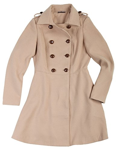 CRISTINA DEA Damen Mantel Beige 855-BEIGE, size:L