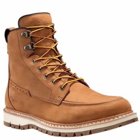 Waterproof Moc (Timberland Men's Britton Hill Waterproof Moc Toe Boot Wheat Nubuck Boot 7.5 D (M))
