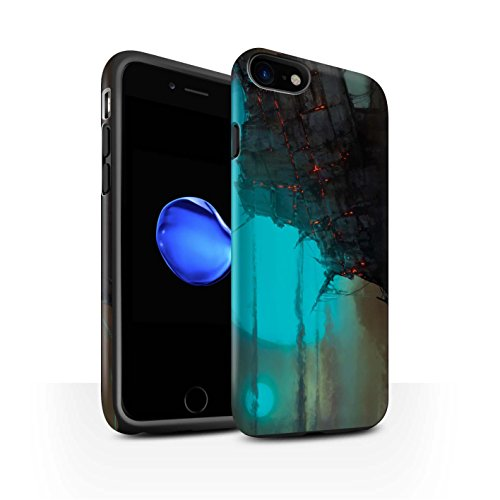Offiziell Chris Cold Hülle / Matte Harten Stoßfest Case für Apple iPhone 7 / Baum des Wissens Muster / Gefallene Erde Kollektion Gift Haupt