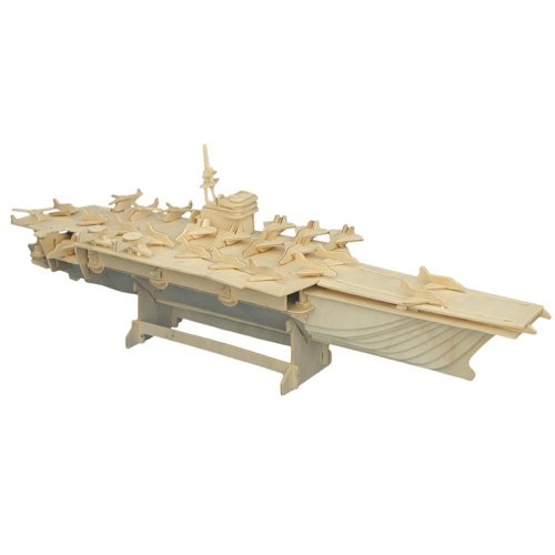 Etna Iława Flugzeugträger 3D Holzbausatz Schiff Boot Holz Steckpuzzle Holzpuzzle Kinder P048