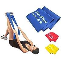 Fit-Flex Resistance Exercise Band - 2m Length - 3 Flex Options – Pilates, Yoga, Rehab, Stretching, Strength Training