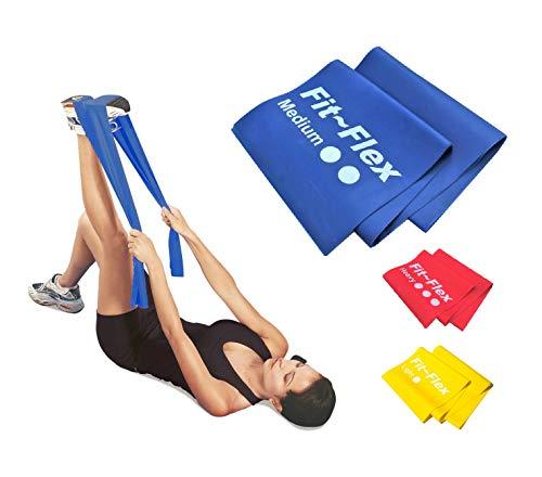 Resistance Exercise Band   2m Length   3 Flex Options   For Women and Men    Pilates - Yoga - Injury Rehabilitation - Stretching - Strength Training  