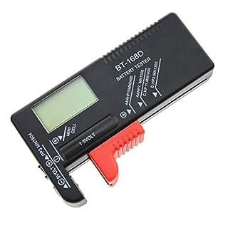Digitaler Batterietester Für AAA AA C D 9 V 1,5 V, Haushaltsbatterieprüfgerät Für Kleine Batterien Knopfzelle