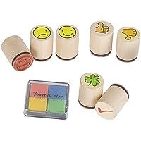 Goki Juego de Smile arts-craft trébol de sello (7piezas)