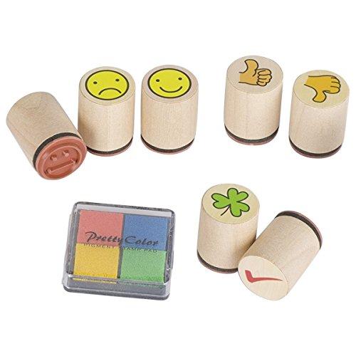 Goki-Juego de Smile Arts-Craft trébol de Sello (7Piezas)