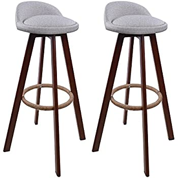 2x Retro kitchen stools with metal legs High Stool Hollylife Bar Stools PU Leather Seat Breakfast  sc 1 st  Amazon UK & 2x Retro kitchen stools with metal legs High Stool Hollylife Bar ... islam-shia.org
