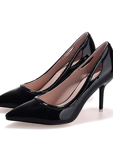 WSS 2016 Chaussures Femme-Décontracté-Noir / Rose / Gris / Multi-couleur-Talon Aiguille-Talons-Talons-Laine synthétique pink-us7.5 / eu38 / uk5.5 / cn38