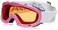 ALPINA Bambini Maschera da sci Rubino S - rosa slh (fucsia slh), Taglia unica - 100% dai raggi UVA, UVB e UVC protezione: Assorbimento massimo di raggi infrarossi nocivi, riflesso della luce diffusa e luce in eccesso - Fogstop Rivestimento: P...