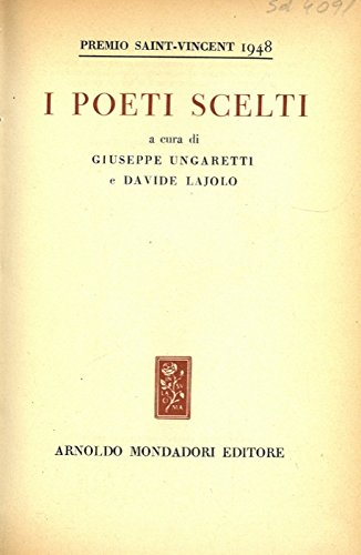 I poeti scelti. Premio Saint-Vincent 1948.