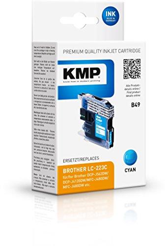 Preisvergleich Produktbild KMP Tintenkartusche für Brother DCP-J4120DW / MFC-J4420DW , B49, cyan