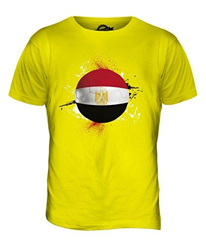 CandyMix Ägypten Fußball Herren T Shirt Zitronengelb