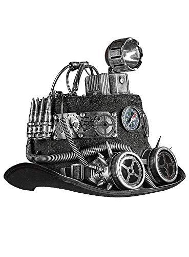 Preisvergleich Produktbild MW Luftpirat Zylinder Steampunk Hut mit funktionaler Lampe