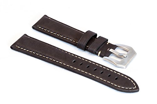 watchassassin-dark-waxy-brown-leather-watch-strap-22mm
