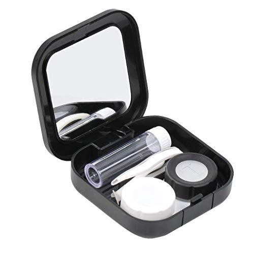 Storerine Unsichtbare Augenbox All In One Kontaktlinsen-Set Kontaktlinsen-Etui für Augenpflege-Set Enthält
