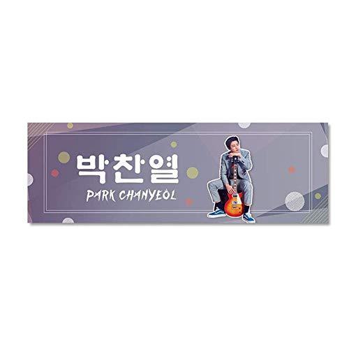Reeseiy 2Pcs Kpop Bts Exo Blackpink Got7 Twice Stray Kids Casual Chic Nct Txt Seventeen Ikon Redvelvet Textilbanner Concert Airport Fabric Banner Album Hand Holder Slogan Poster