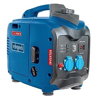 Scheppach Stromerzeuger SG2000 (2000 W, 71 dB, 2,86 PS, 105,6cm³, 4-Takt-Benzinmotor, Seilzugstarter, 3,2 L Tank, Einzylinder, Kraftstoffverbrauch 10,7 L/h)