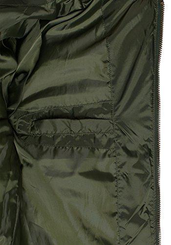 BLEND Camaro Herren Übergangsjacke Steppjacke mit Stehkragen aus hochwertiger Materialqualität Duffel Bag Green (77019)