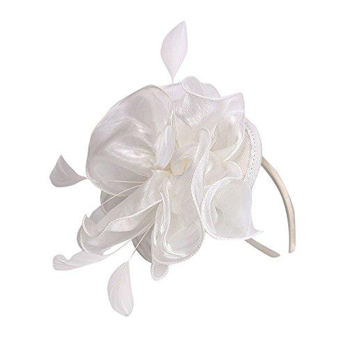 ZEELIY Damen Flapper Stirnbänder 1920er Jahre Pfau Stirnband Kopfbedeckung Flapper Stirnband Kopfschmuck Floral Flower Garland Stirnband Vintage-Wunderschön Stirnband für Braut Feder Stirnband