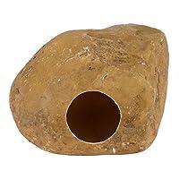 Unibell Ocultar Reptil Gecko Lagarto Cueva de Piedra Puesta de Huevos pequeños Animales for Las Serpientes araña hámster (Amarillo)