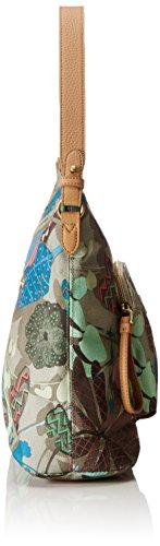 Oilily Damen M Shoulder Bag Umhängetasche, 13x25.5x30 cm Grün (Nori Green)