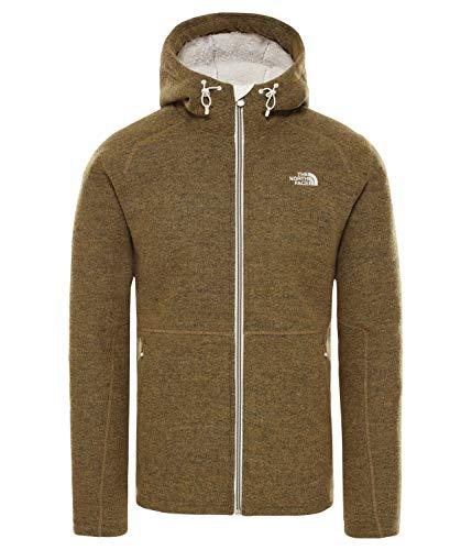 THE NORTH FACE Zermatt Full-Zip Hoodie Herren British Khaki Dark Heather Größe XL 2019 Jacke -