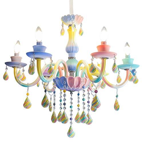 Well-Educated Color Decorative Candle Chandelier Crystal Lamp K9 European Childrens Room Girls Room Creative Bedroom Dining Room Chandelier Ceiling Lights & Fans Lights & Lighting