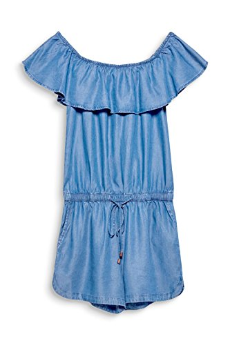 edc by ESPRIT Damen Jumpsuit 058CC1L002, Blau (Blue Wash 902), Medium - 3