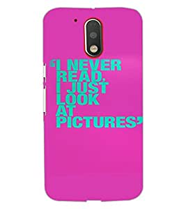 MOTOROLA MOTO G4 TEXT Back Cover by PRINTSWAG