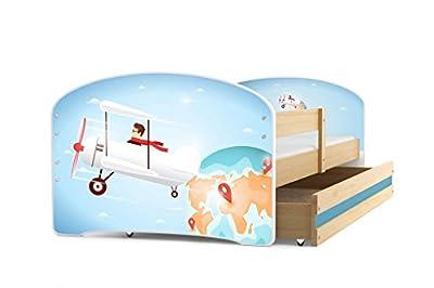 Cama individual LUKI - PINO,160X80, con cajón, somier y colchón de espuma GRATIS!