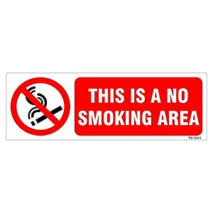 Signageshop This Is A No Smoking Area Sign