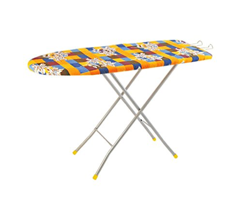 Flipzon Self Standing Folding Ironing Board - (Color and Design of Cloth Will Different) - (Make in India)
