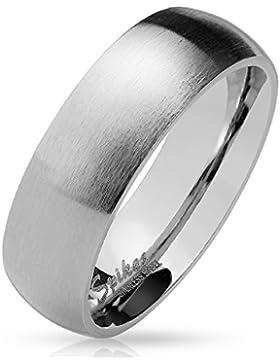 Paula & Fritz® silber matt poliert 4mm 6mm 8mm BREITE Edelstahlring Damen-ring Verlobungs-ring Freundschaftsring...