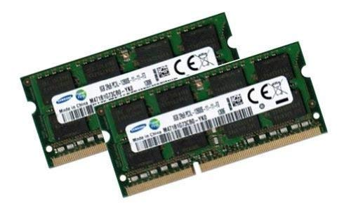 Samsung 16GB Dual Channel Kit 2 x 8 GB 204 pin DDR3L 1600 SO-DIMM (1600Mhz, PC3L-12800S, CL11, 1.35V/Low Voltage) - Apple ID 0x80CE - 8 Ddr3-1600-notebook-ram Gb