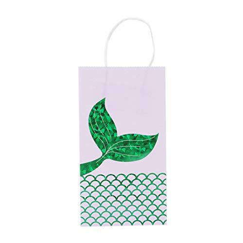 VWH 6 Stück Meerjungfrau Geschenk Taschen Mermaid Party Supplies Gefälligkeiten(Grün) (Taschen Party City Party)