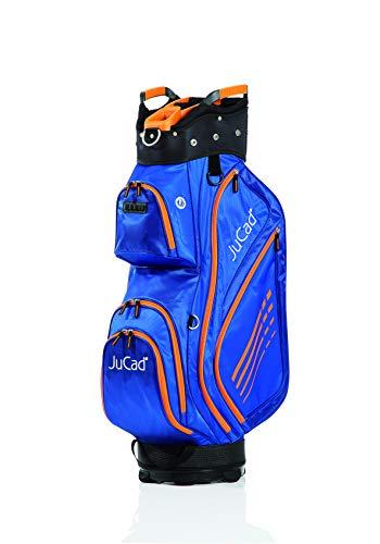 JuCad Bag Sportlight I Golfbag I Golftasche I für 14 Schläger I Schirmhalter I Farbe Blau-Orange (Blau Und Orange Golf-bag)