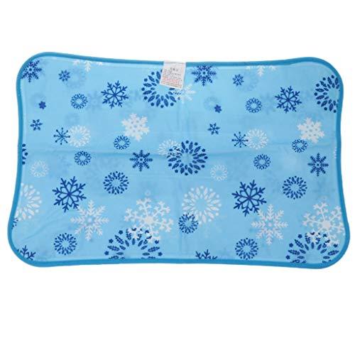 sharprepublic Sommer Eiskissen Eisauflage PVC-Kühlung EIS Sand Wasser Eiskristall Kissen Kühle Kühlkissen für Probeschlafen - Hellblau