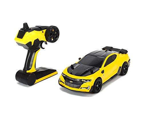 4-autos Transformers (Dickie Toys 203117001 - Transformers Movie 5 Bumblebee, Chevrolet Camaro, RC Fahrzeug, ferngesteuertes Auto, 1:18, 24cm)