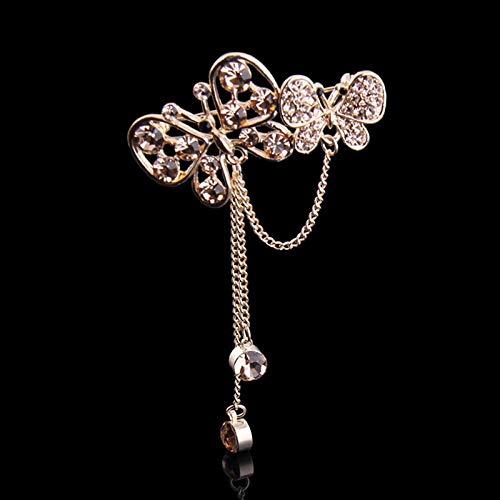 SZNYD Handgemachte original voller Diamanten Schmetterling männliche Prostituierte nationalen Wind Quaste Pin Brosche Stuhl mit Kleid Brosche