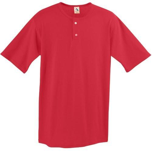Augusta sportiva da uomo a due pulsanti BASEBALL JERSEY, taglia XL, colore: rosso