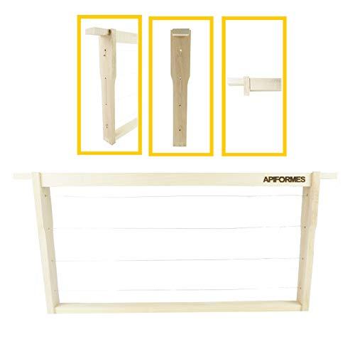 APIFORMES Zander Rähmchen (ZN) Modifiziert mit Hoffmann Seitenteilen - 60 Stück - Zander Ganzzarge | Zanderbeute | Bienenkisten | Zander Beute | Imkerei | Imkereibedarf